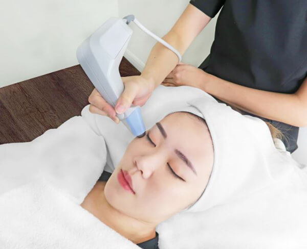 Exilis Face Tightening by Expressions targets fine lines, wrinkles and crow's feet